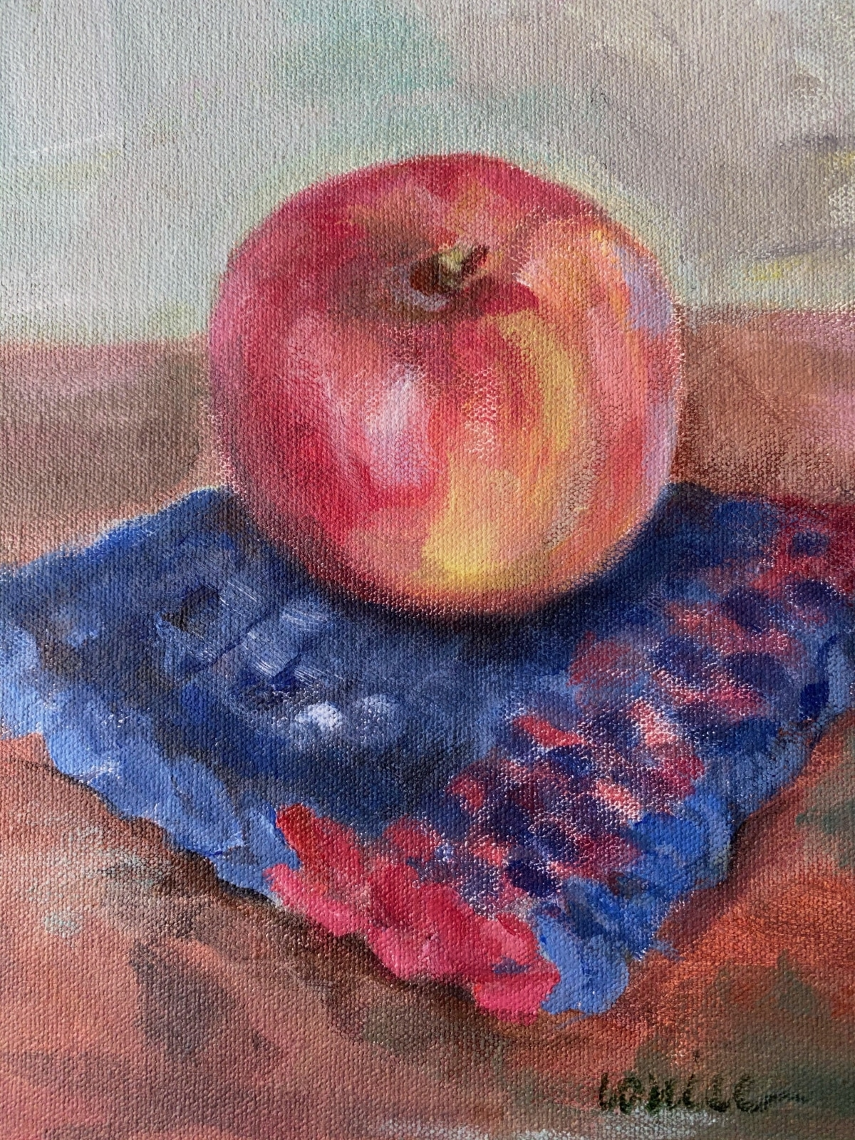 Apple-and-potholder