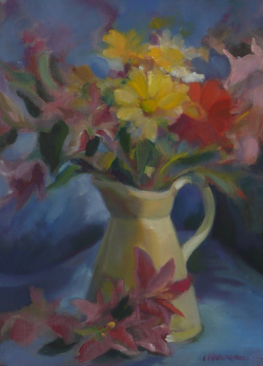 Floral Bouquet in Pitcher
