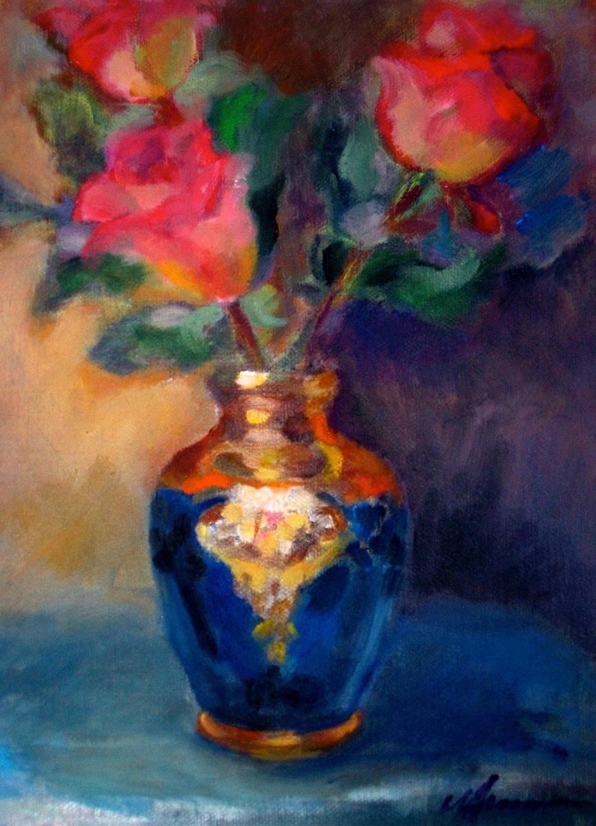Roses,Venetian Vase