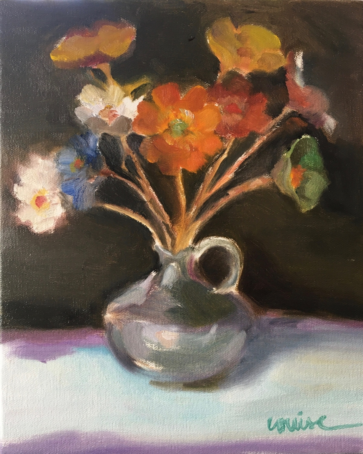Irene's enamel flowers