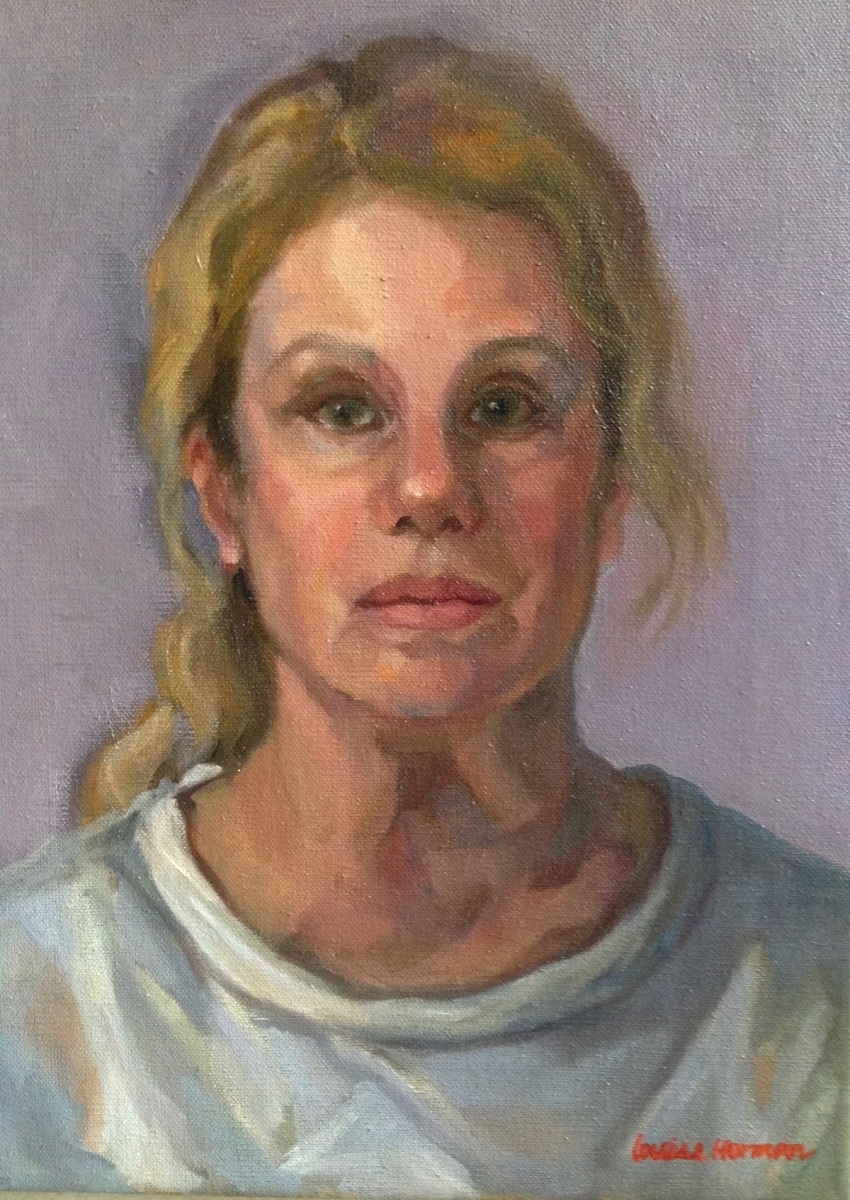 Self Portrait with White Top