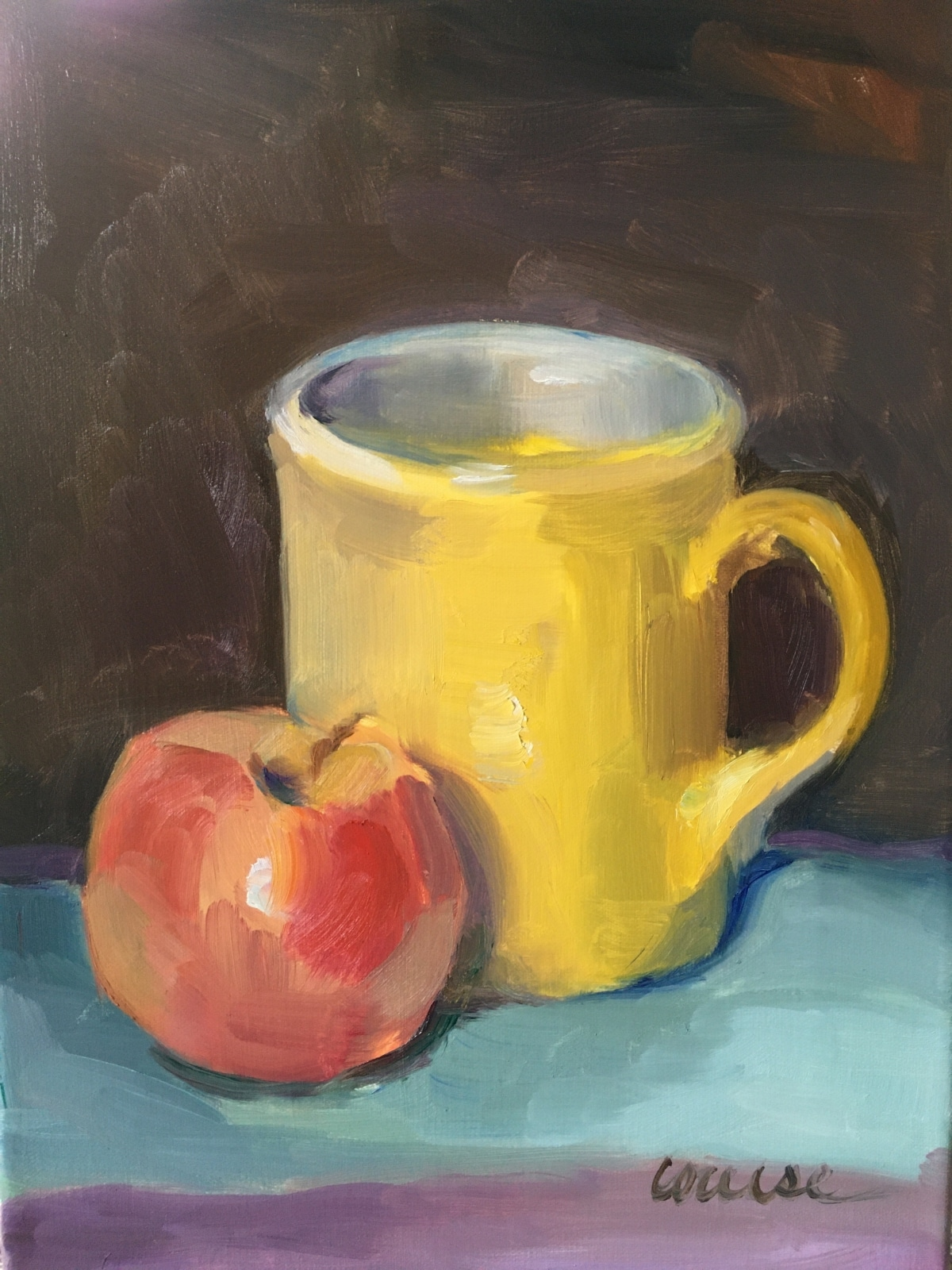 Sunshine Mug and Apple