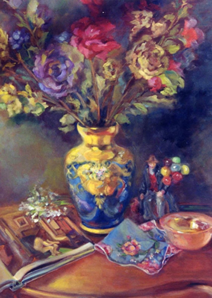The Venetian Vase with Floral Bouquet
