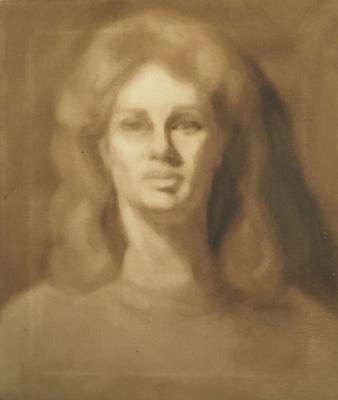 Self Portrait, sepia