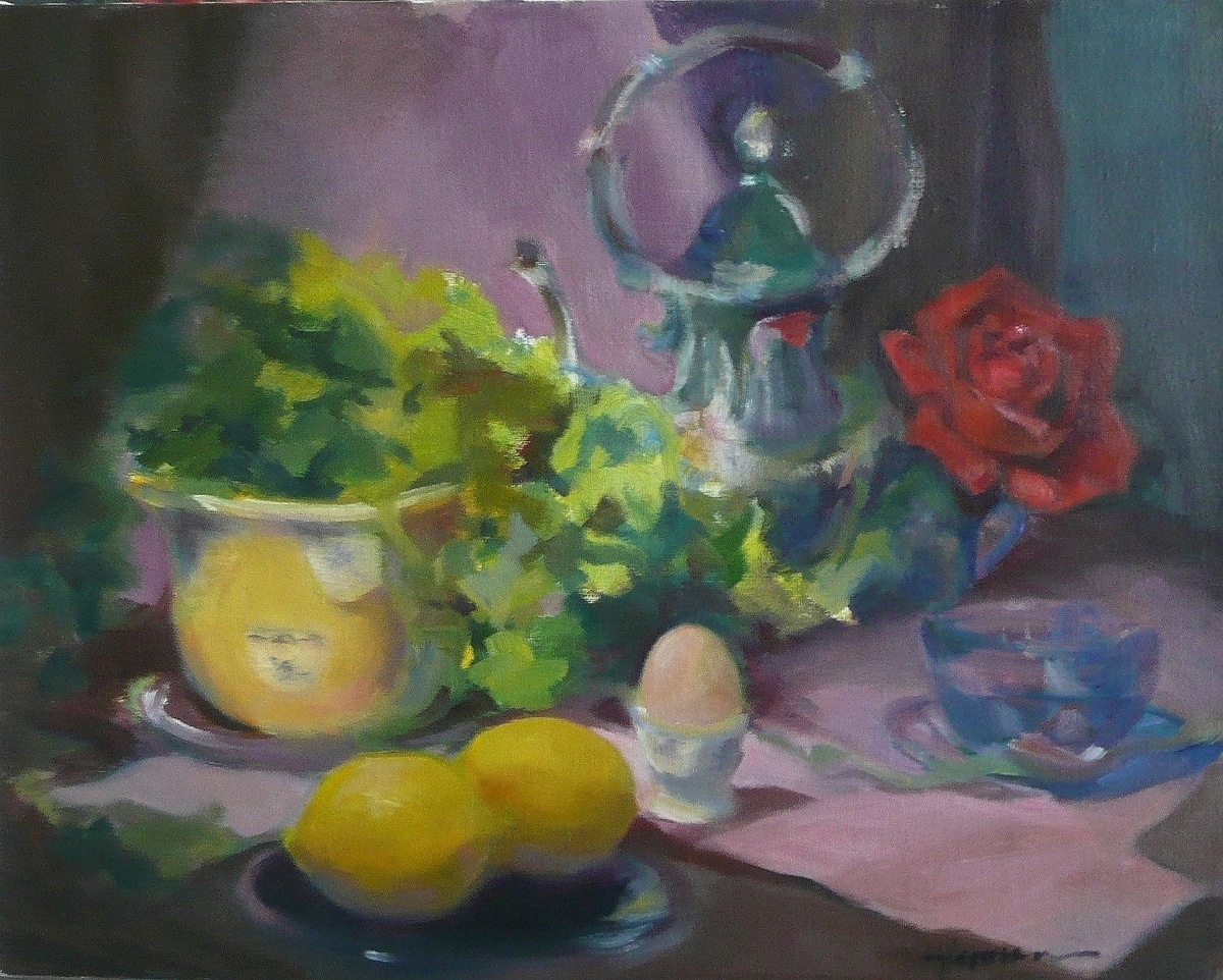 Two Lemons and Rose