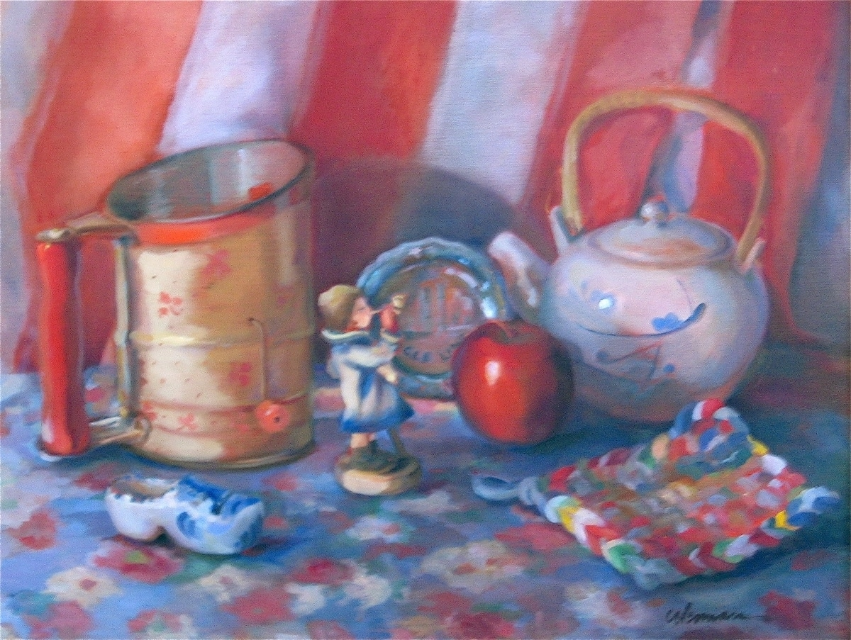 Red ,White & Blue Still Life