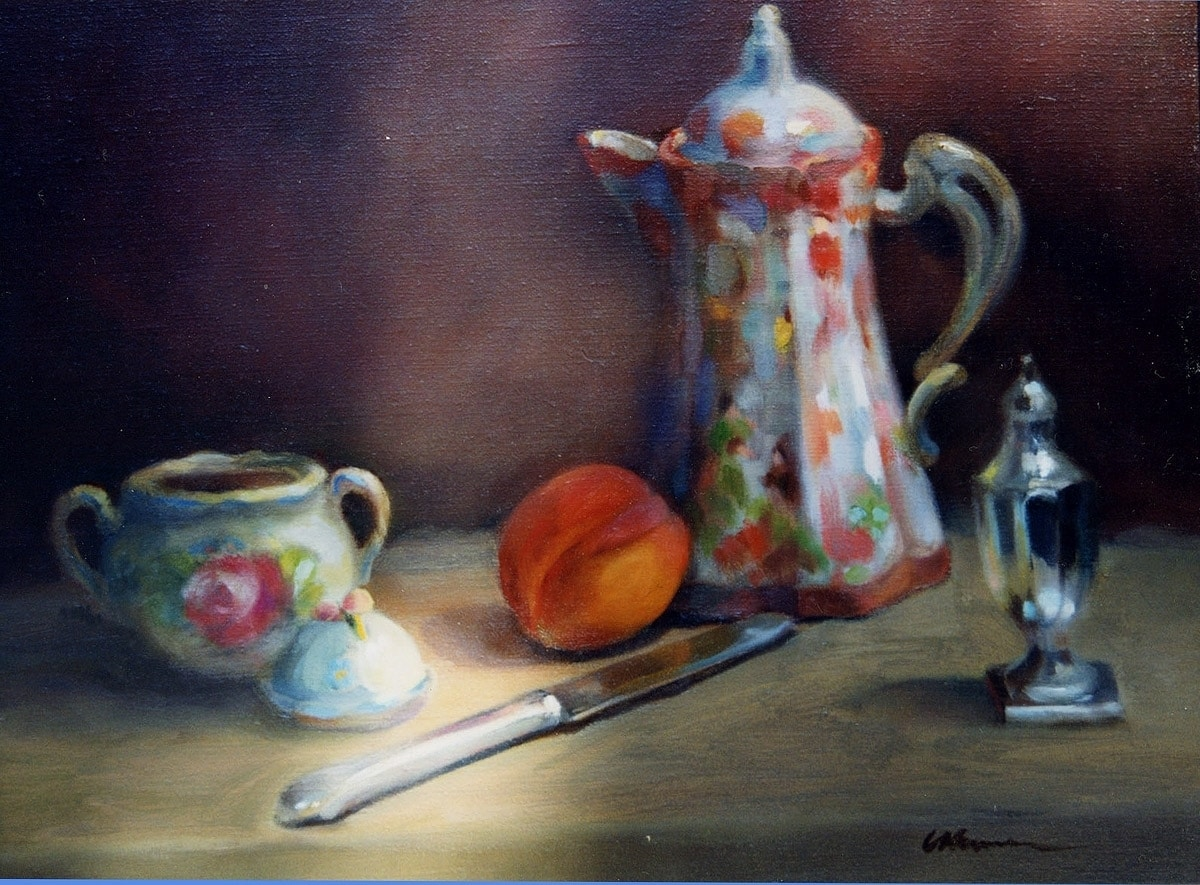 Still Life with Chocolate Pot and Silver Knife