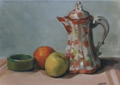 Chocolate Pot, Fruit, Clay Pot