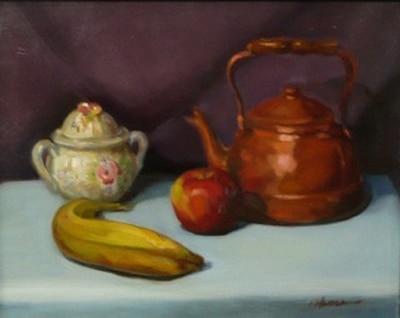 Copper Pot, English Sugar Bowl
