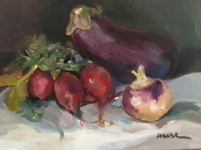 Radishes, Eggplant, Turnip