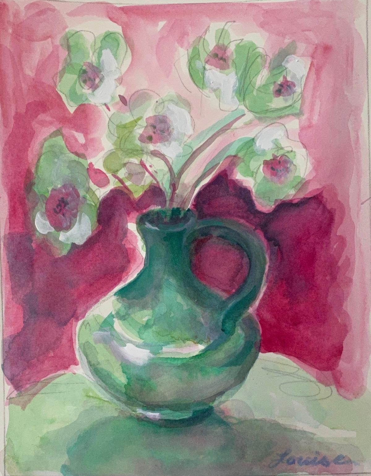 Vase in Alizarin & Viridian